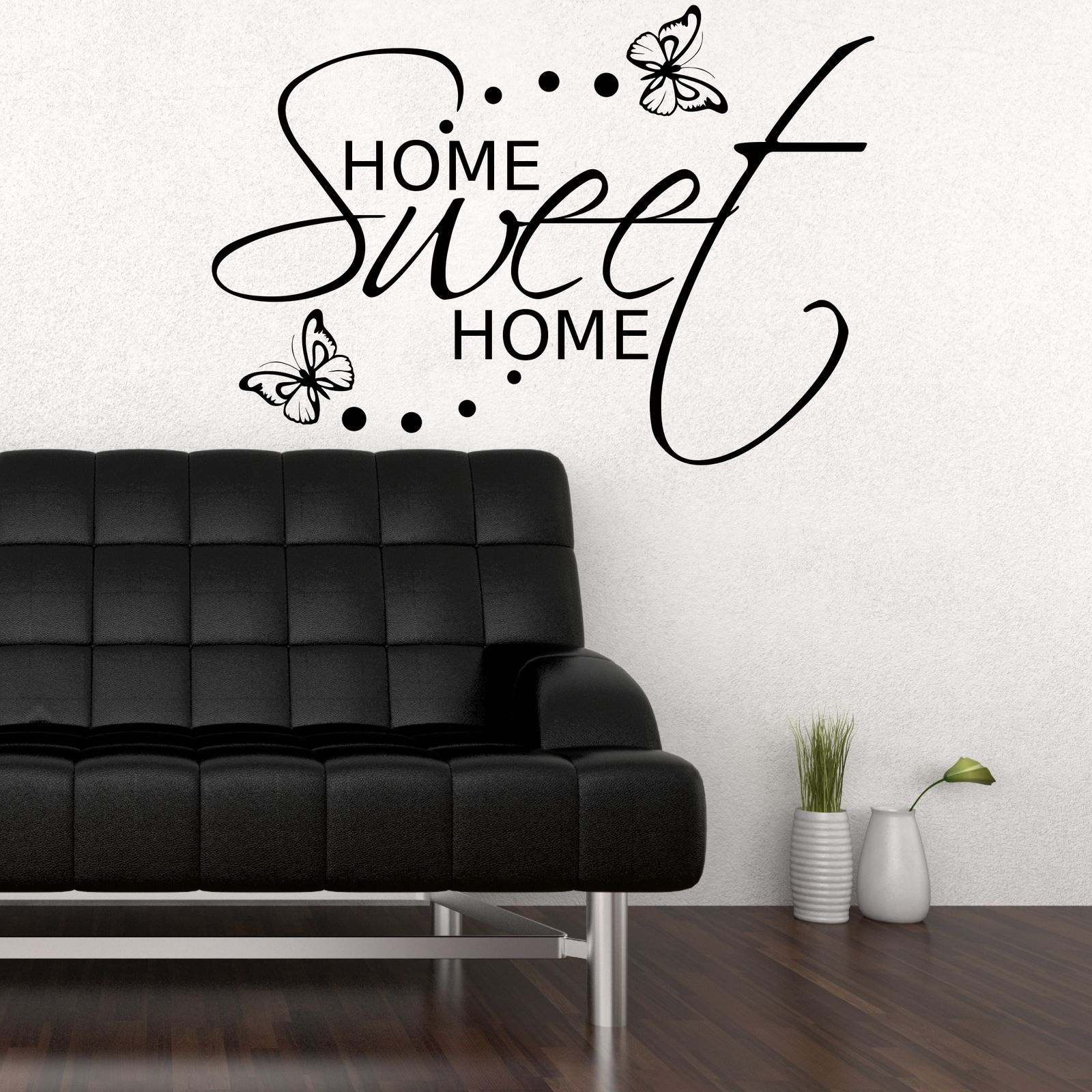 Home sweet home wall sticker art room gift decal mural for Sticker deco