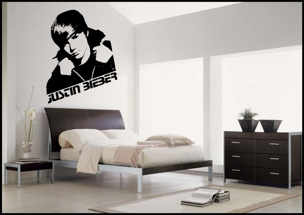 Marvelous Justin Bieber Wall Sticker Bedroom Vinyl Art Decal  Part 10