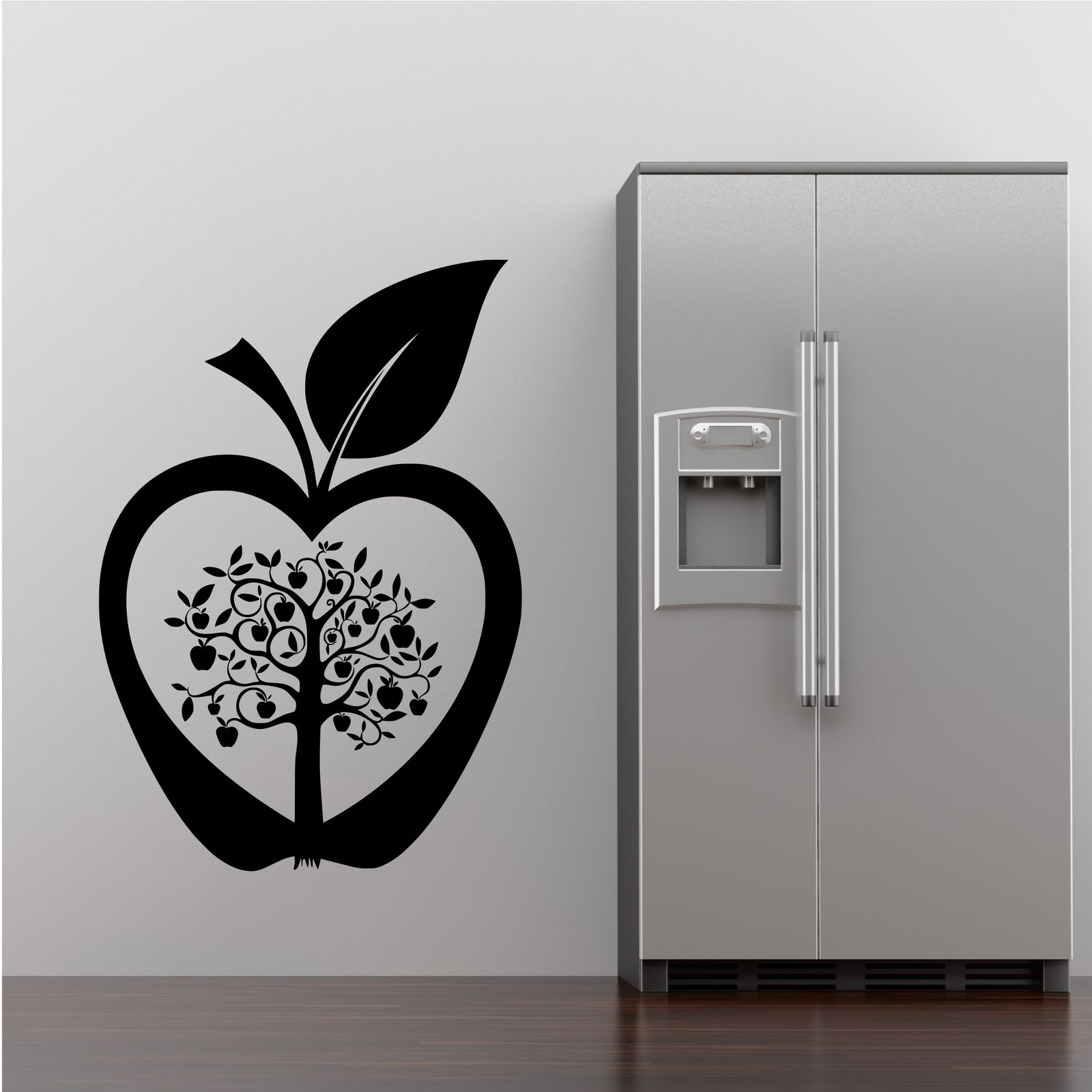 Kitchen apple tree flower modern wall art sticker decal for Stencil wall art