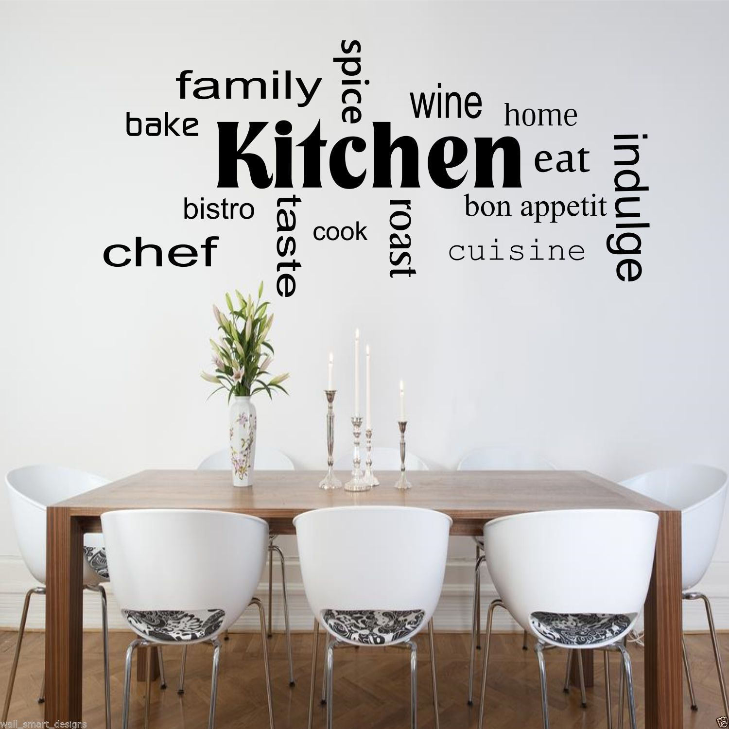 Kitchen Words Phrases Wall Sticker Quote Decal Stencil Transfer Decor Wsd442 Ebay
