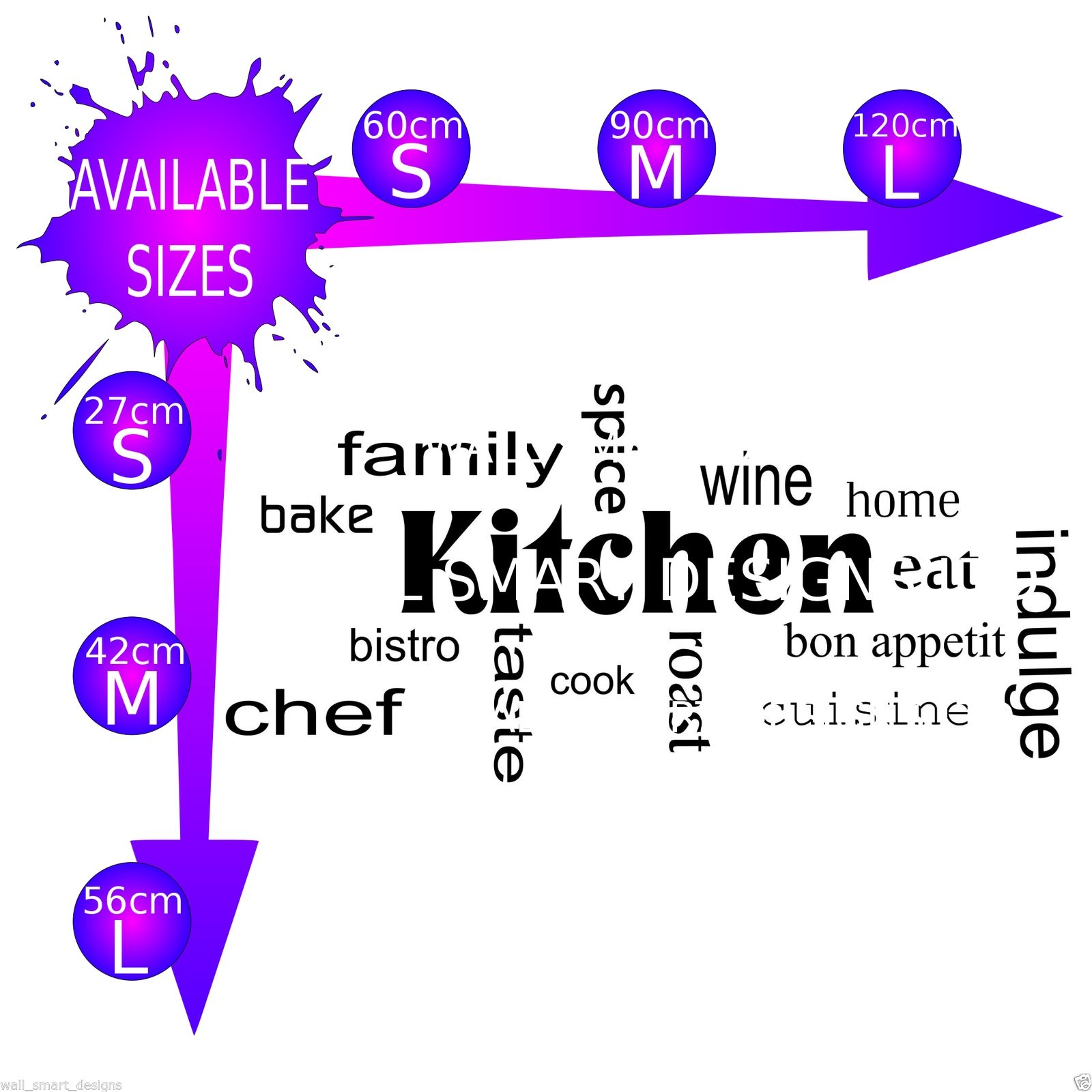 kitchen words phrases wall art sticker quote decal mural stickers muraux en 55 photos pour personnaliser les murs