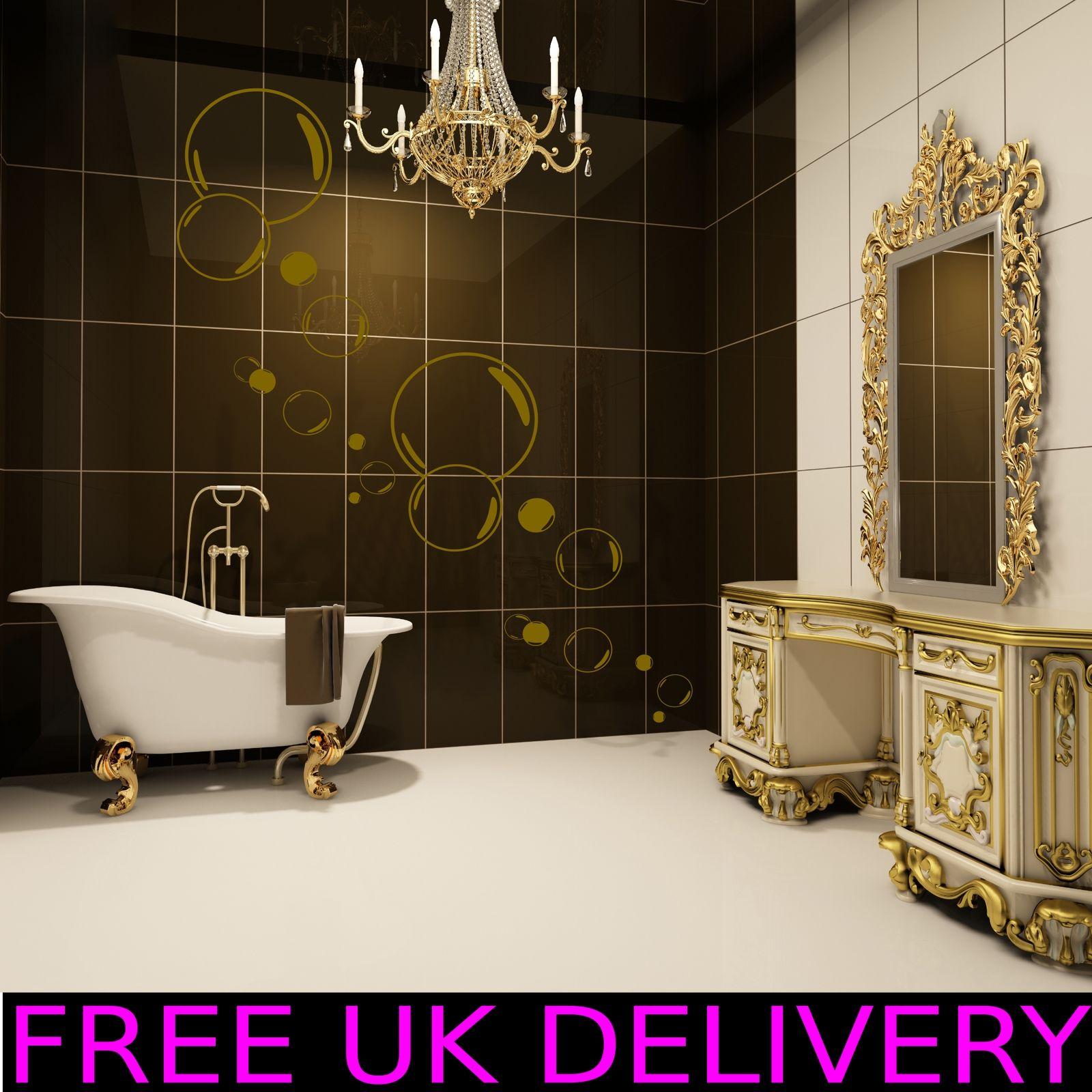 Large Big Bubbles Bathroom Wall Art Stickers Decal Vinyl Transfers ...