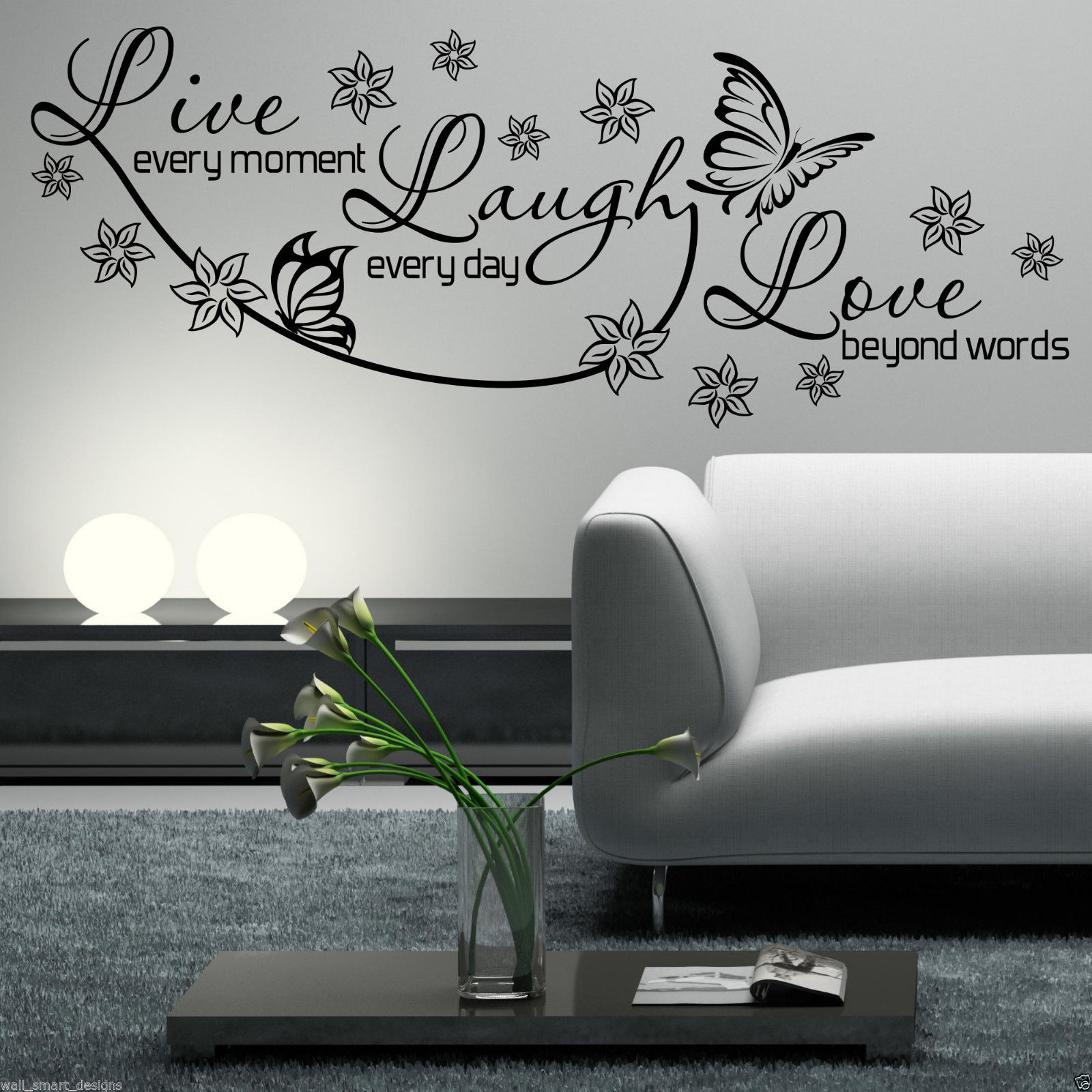 live laugh love wall art sticker lounge room quote decal light blue bathroom live laugh love wall sticker live