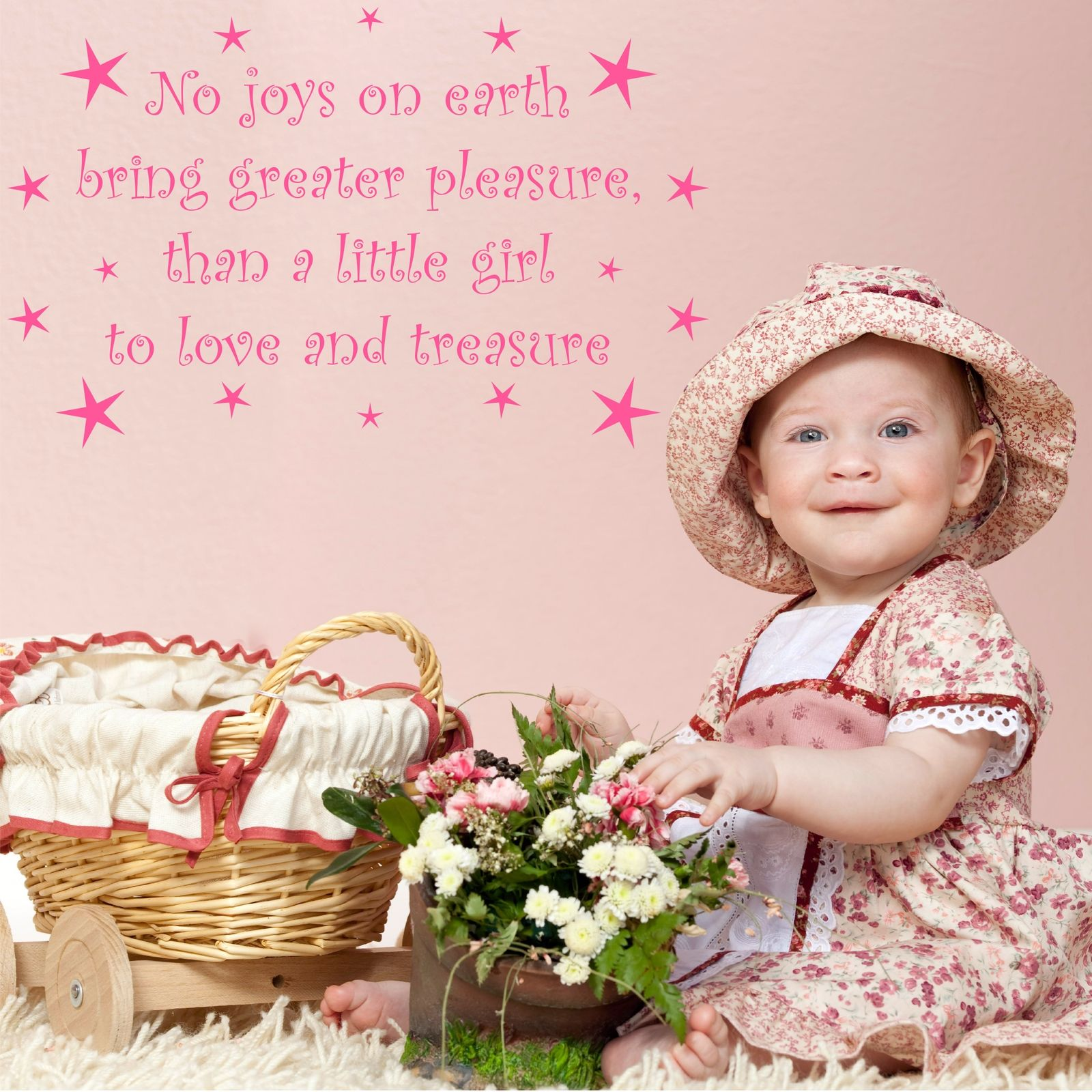 Love and Treasure Girls Nursery Wall Quote Stickers Decal Mural ...
