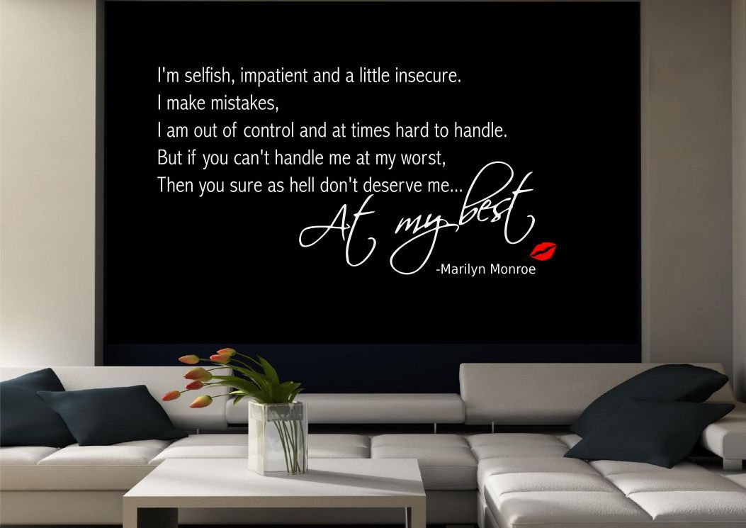 Marilyn Monroe Wall Quote Sticker Decal Mural Transfer  Part 55