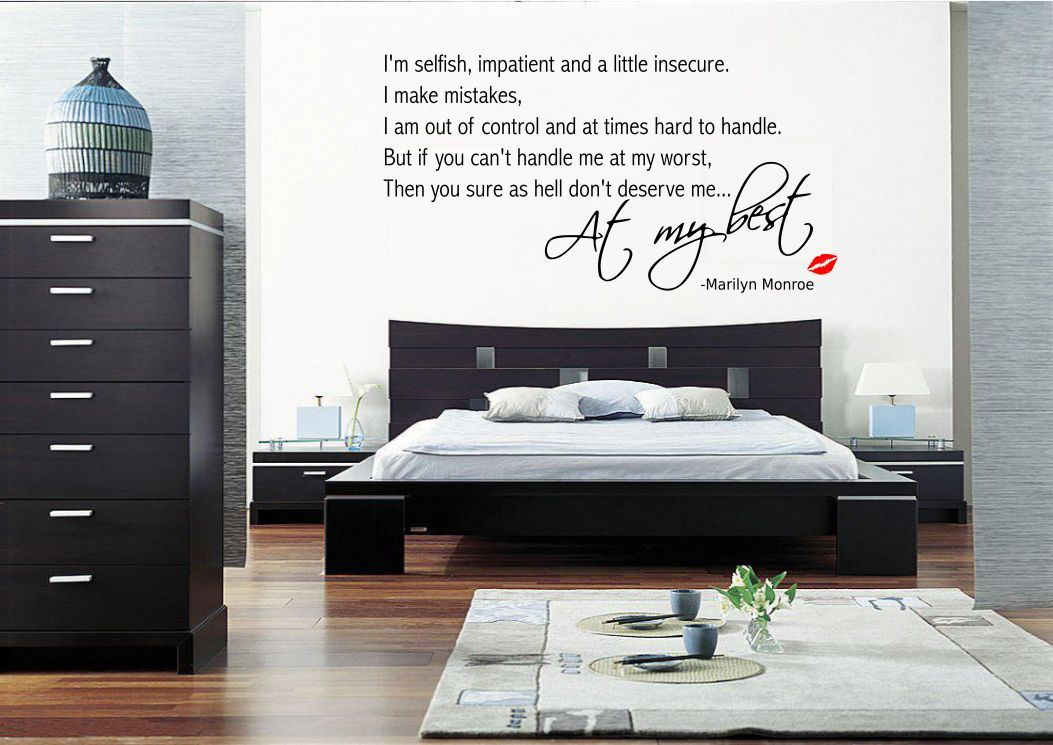 marilyn monroe wall quote sticker decal mural transfer pop decors marilyn monroe wall mural wayfair