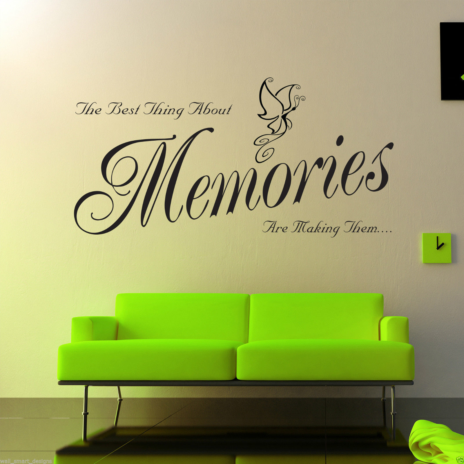 memories wall art sticker lounge room quote decal mural stencil