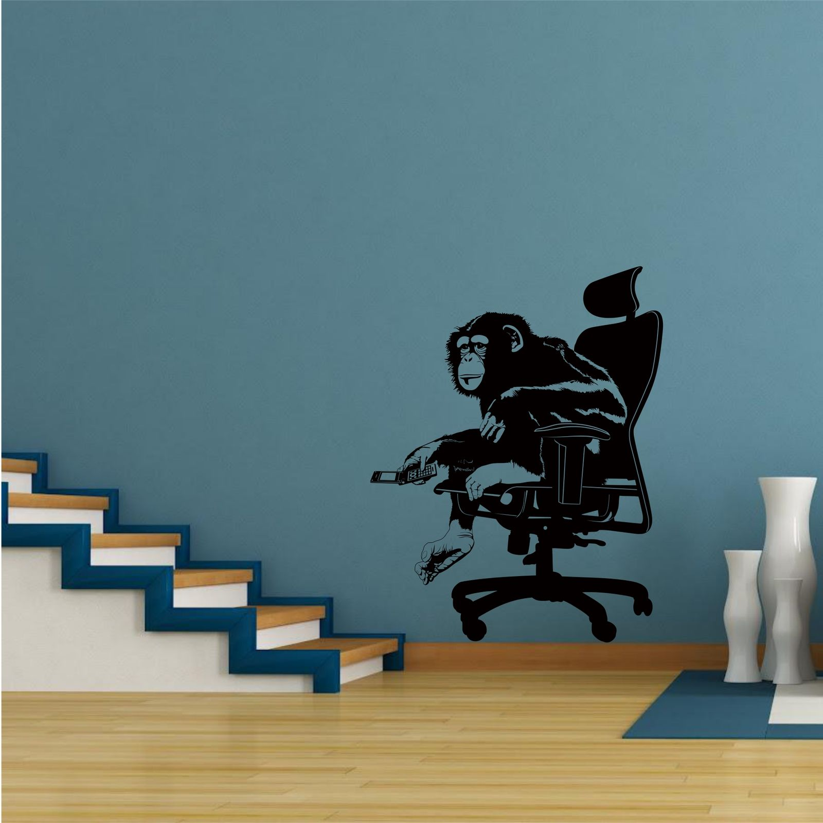 Office monkey chimp animal wall art wall sticker decal mural ...