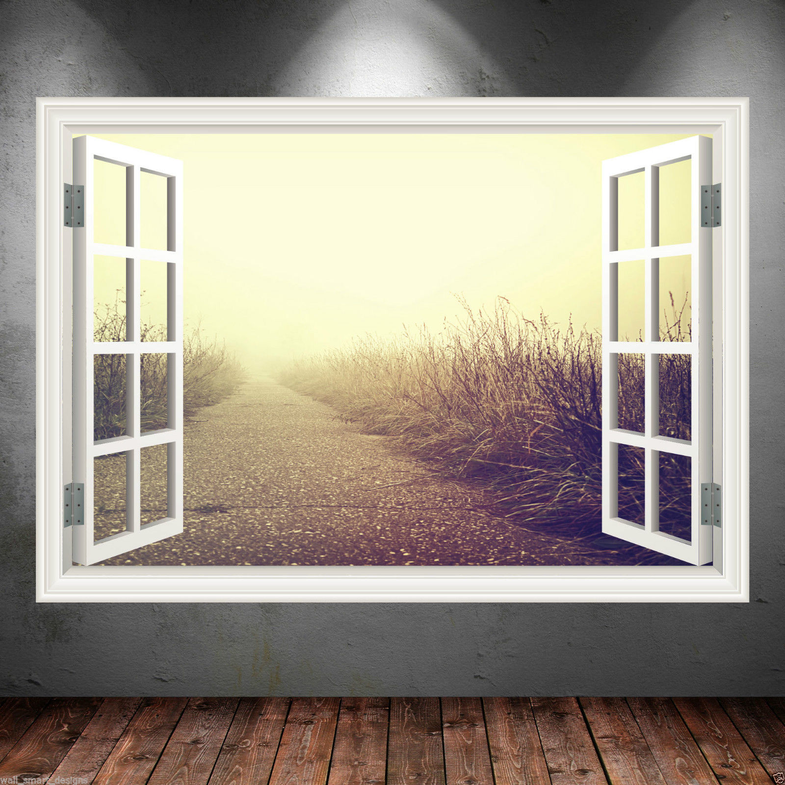pathway window frame full colour wall art sticker decal transfer mural graphic