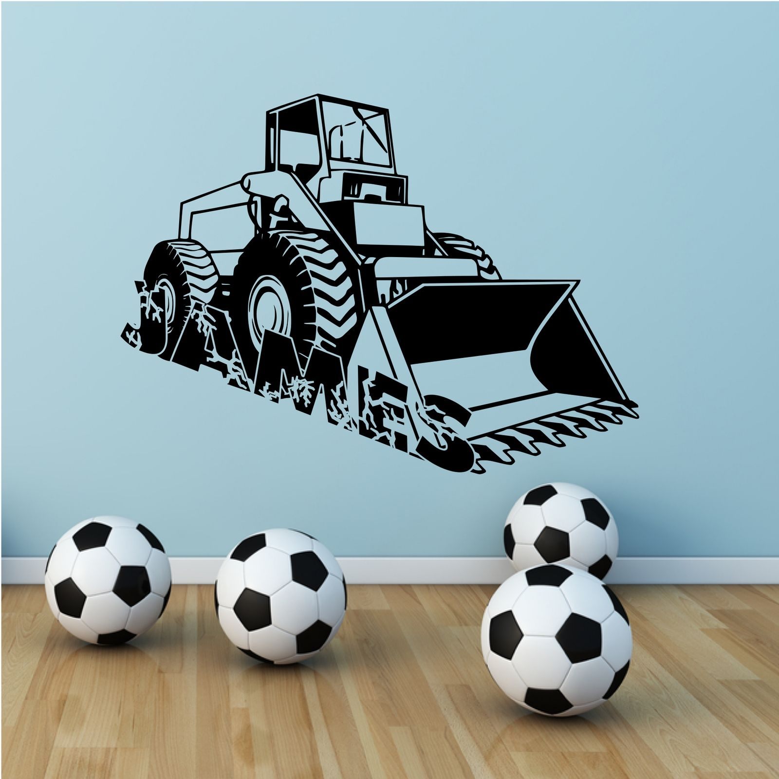 boys wall art shenra com personalised digger name boys wall art sticker decal mural stencil