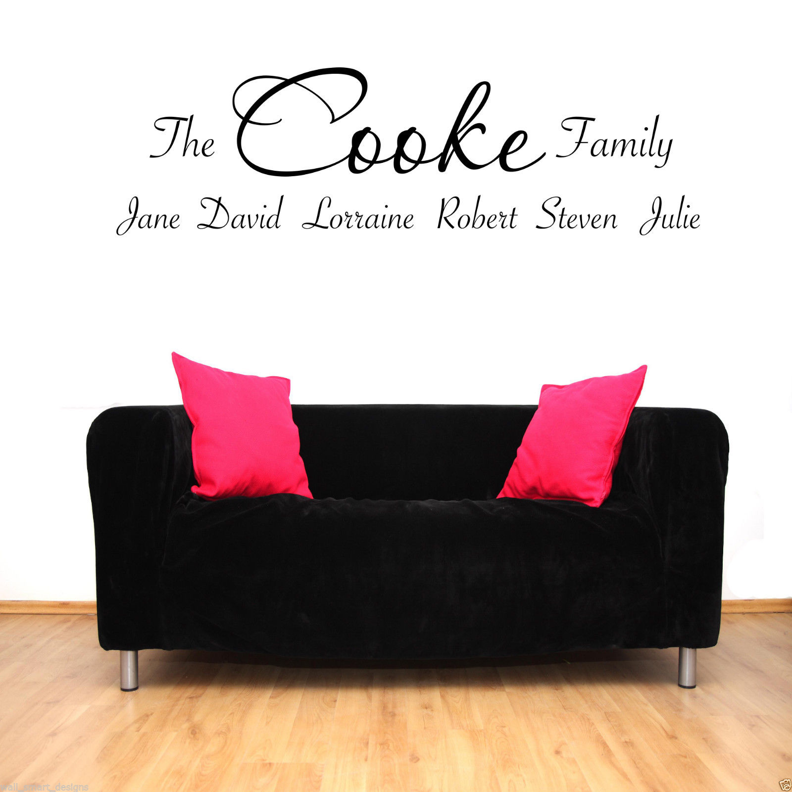 PERSONALISED FAMILY Wall Art Sticker Lounge Quote Decal Transfer Stickers WSD529