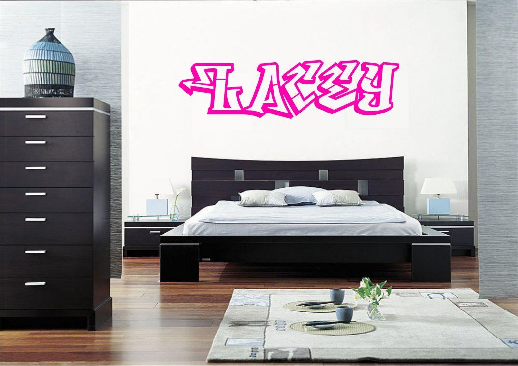 personalised graffiti name wall art sticker decal mural personalised graffiti name wall sticker mural art boys