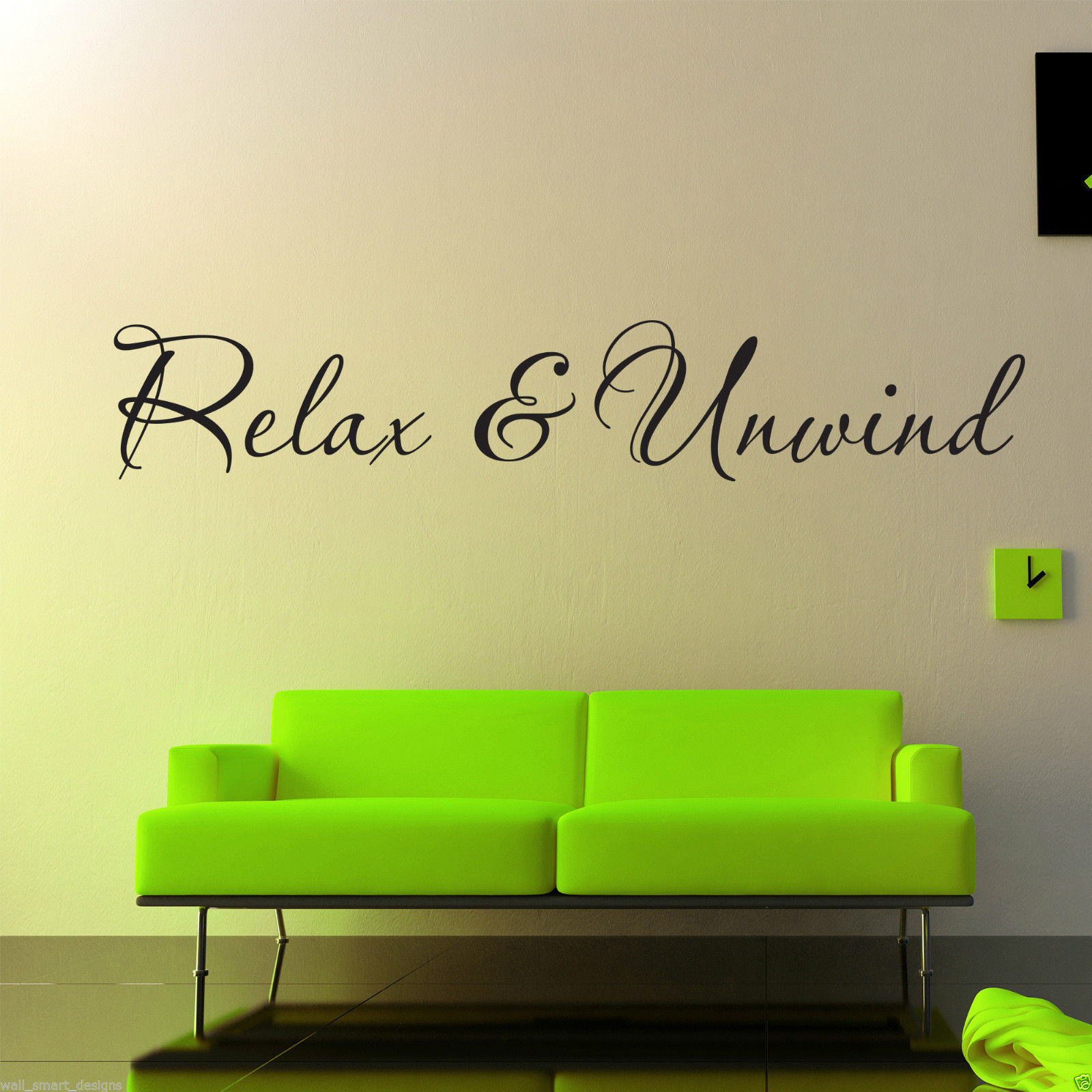 Relax And Unwind Wall Art Sticker Lounge Room Quote Decal Mural ...