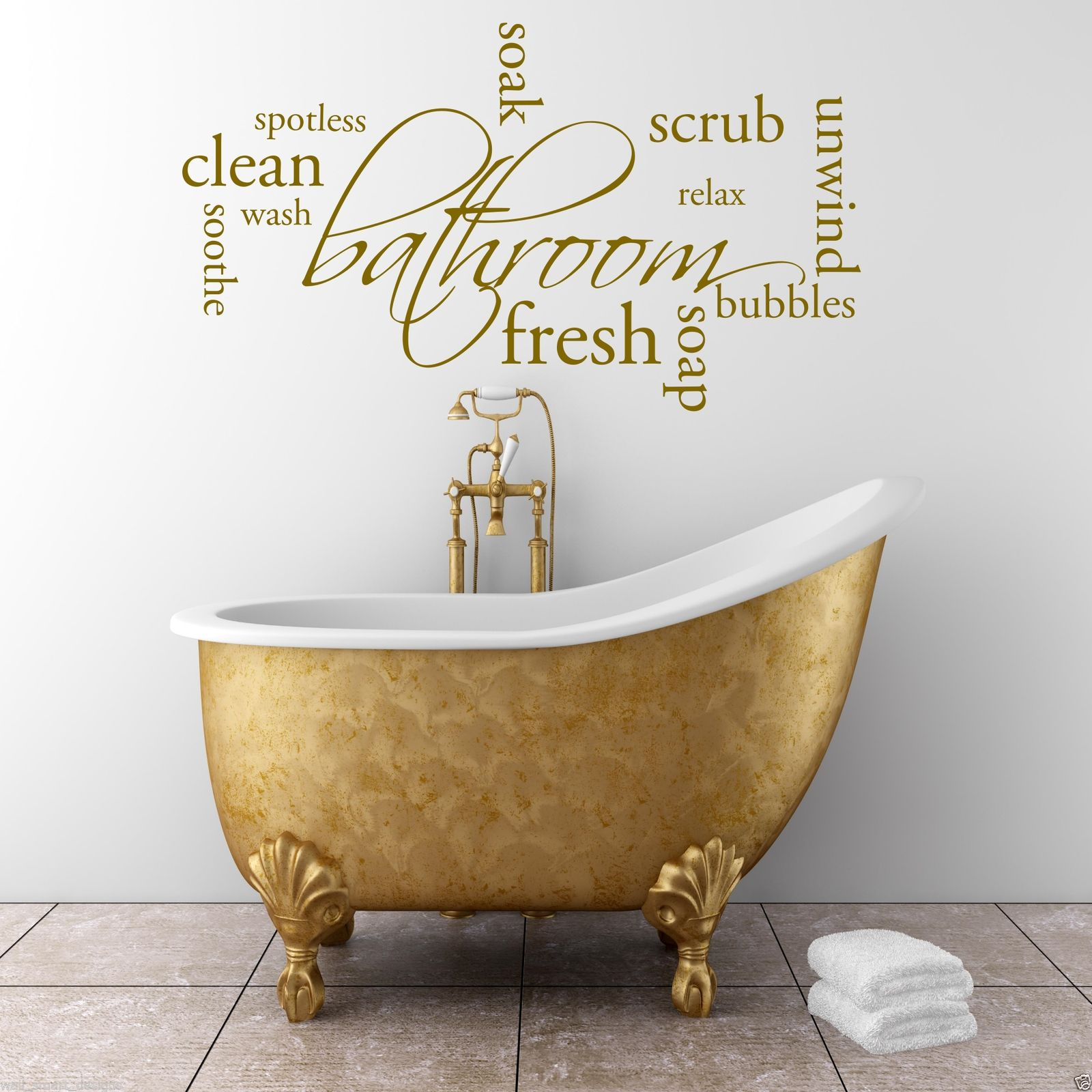 Bathroom wall decor quotes - Relax Soap Bathroom Wall Art Sticker Quote Decal