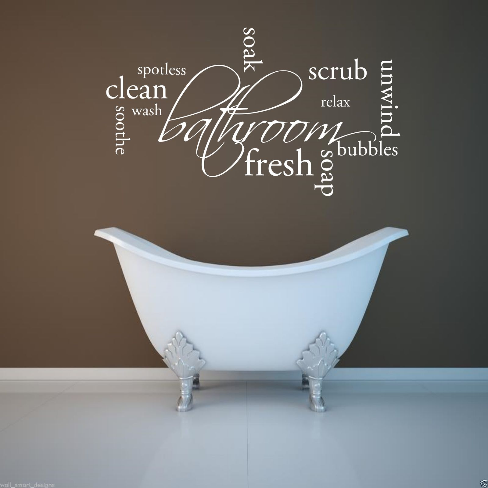 Bathroom wall art stickers - Relax Soap Bathroom Wall Art Sticker Quote Decal