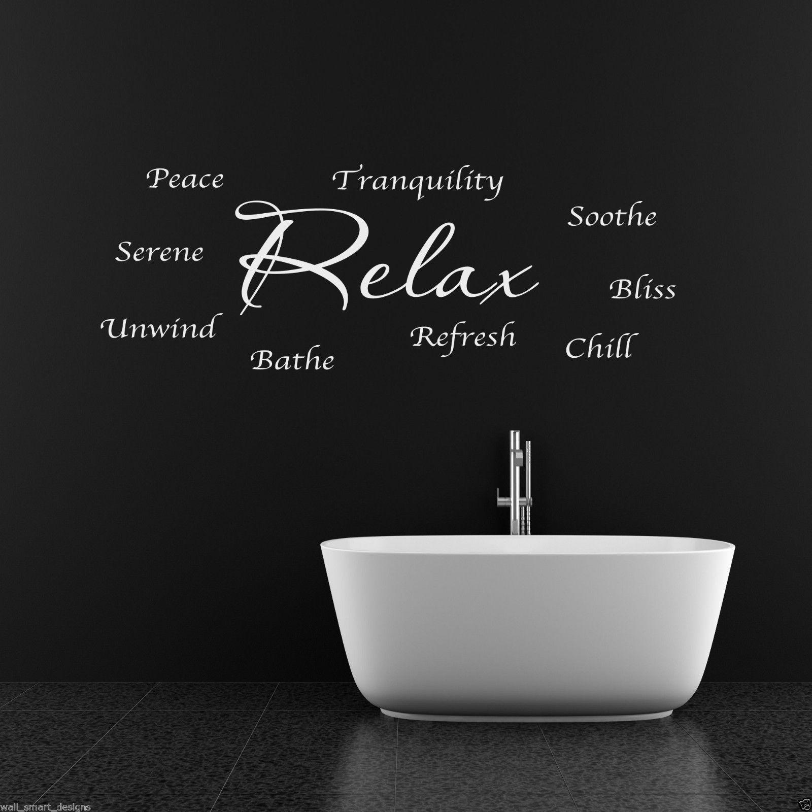 Bathroom wall art stickers - Relax Unwind Refresh Bathroom Wall Art Sticker Lounge