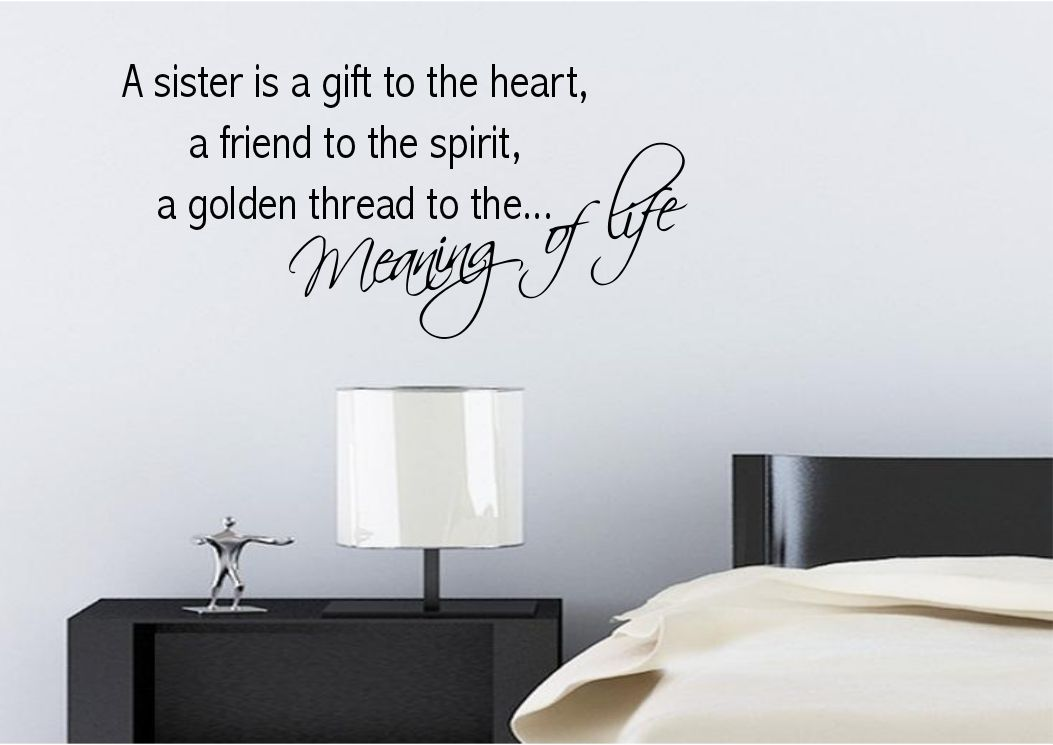 Sister love meaning wall sticker quote decal transfer for Definition of a mural
