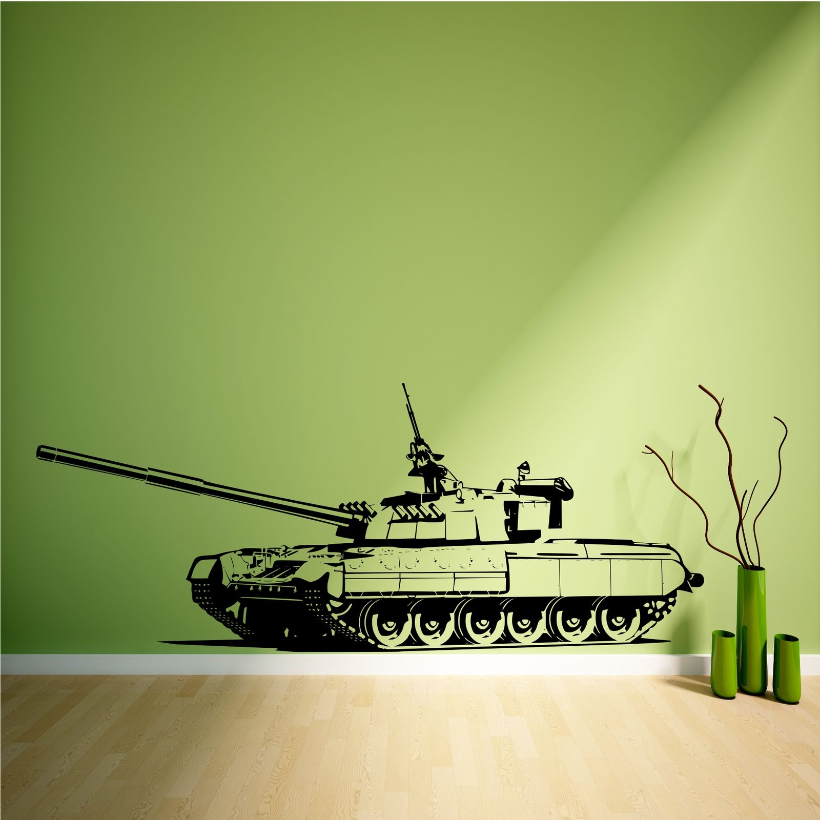 TANK ARMY BOYS BEDROOM WALL ART STICKERS DECALS