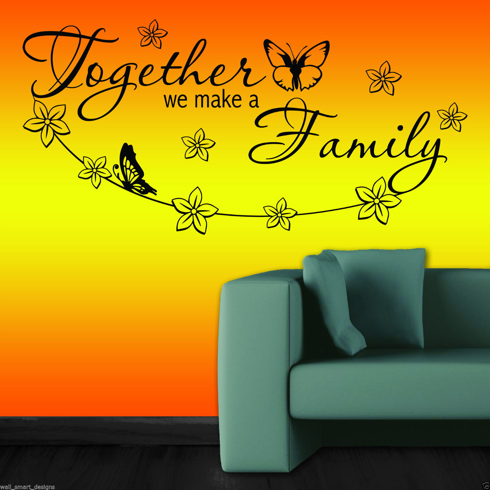 Together Family Wall Art Sticker Decal Mural Decor Self Adhesive ...