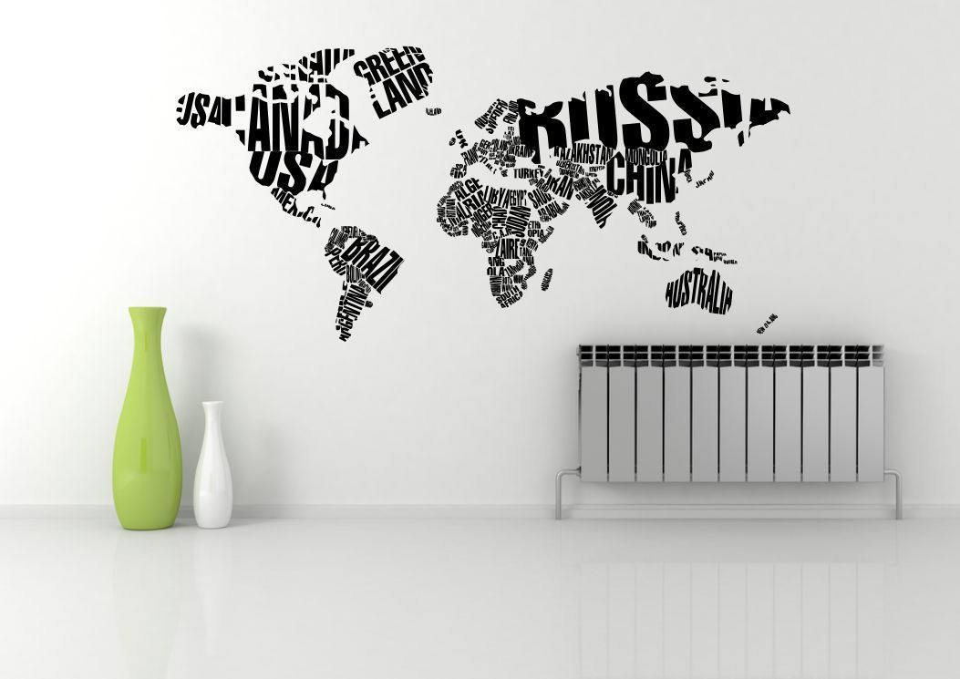 World map atlas quote abstract wall art sticker decal mural world map atlas quote abstract wall art sticker decal mural stencil vinyl print gumiabroncs Image collections