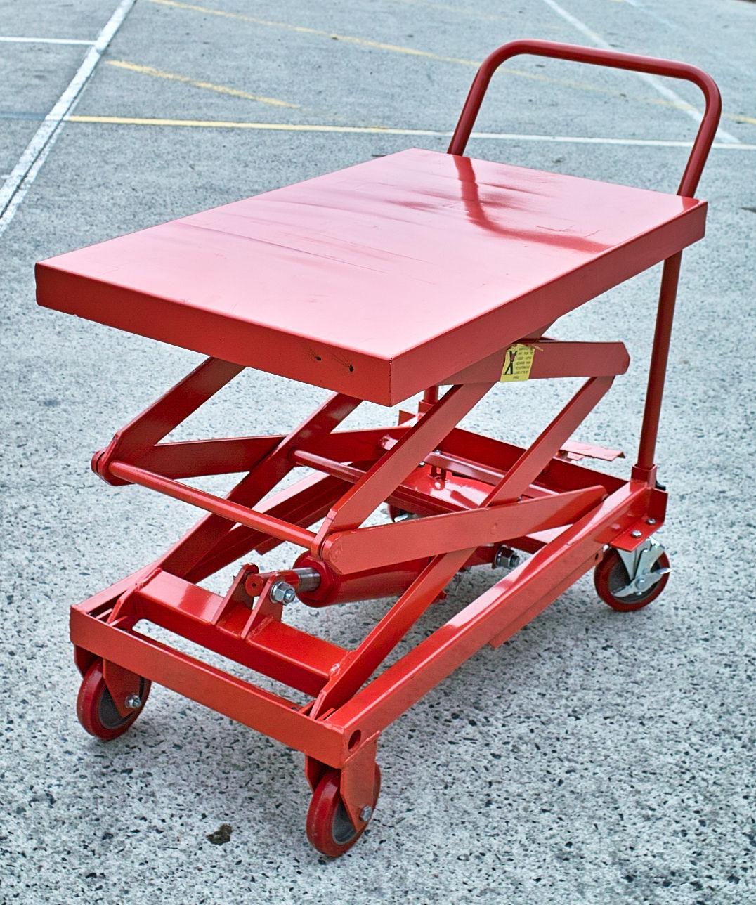 Hydraulic Scissor Lift Carts : Kg hydraulic scissor lift high m table cart
