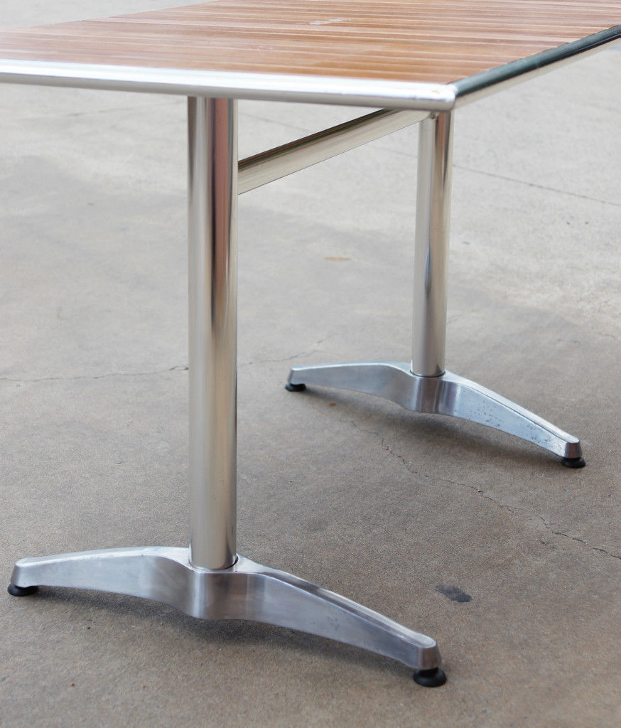 Rectangular Pub Tables Amazon Com: Aluminium OAK Timber Table Rectangle,Cafe Bar Pub Table