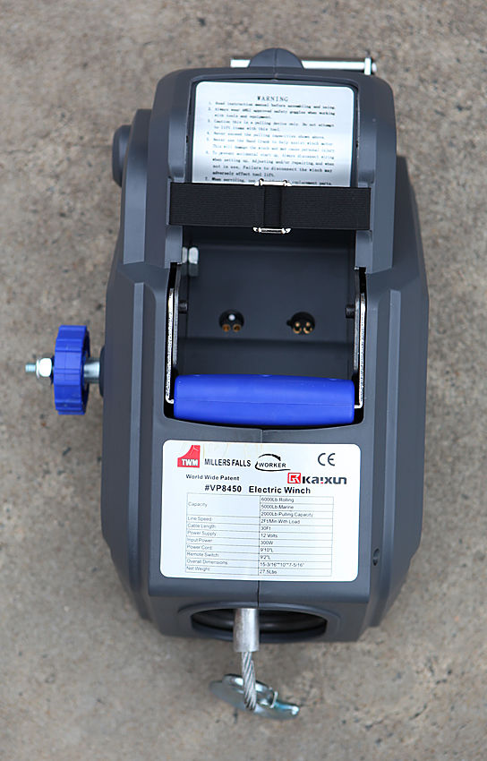 Electric Winch 2000 lb Steel Cable with Remote Control, Boat Trailer Gear Winch