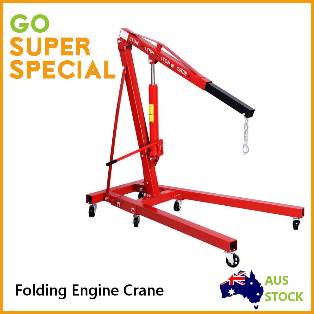 2 ton engine crane hoist foldable crane lifter new heavy duty 2000 kg ebay. Black Bedroom Furniture Sets. Home Design Ideas