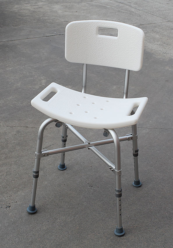 Medical Shower Seat White Stool Bench Chair 41x40x55cm Heavy Duty Elderly