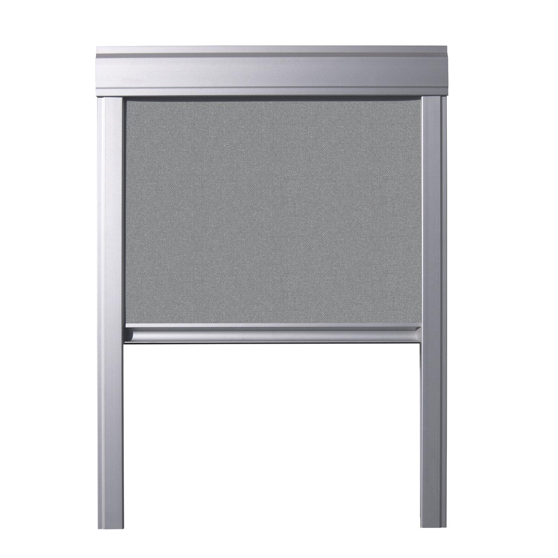 verdunkelungsrollo f r velux dachfenster beige blau grau. Black Bedroom Furniture Sets. Home Design Ideas