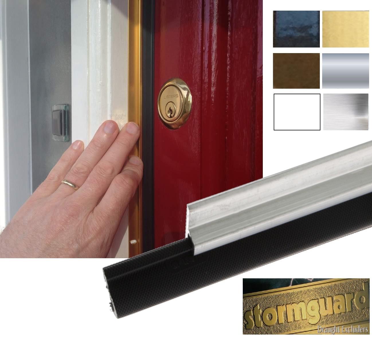 Stormguard around door seal draught proof kit premium q lon 4 1 5 piece ebay for Exterior door draught excluder