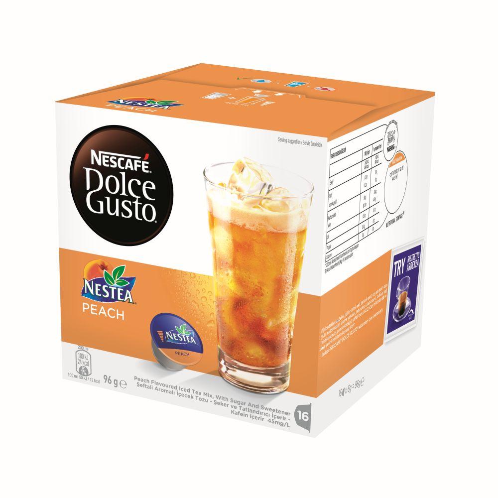 bulk nescafe dolce gusto nestea peach 5 boxes pods ebay. Black Bedroom Furniture Sets. Home Design Ideas