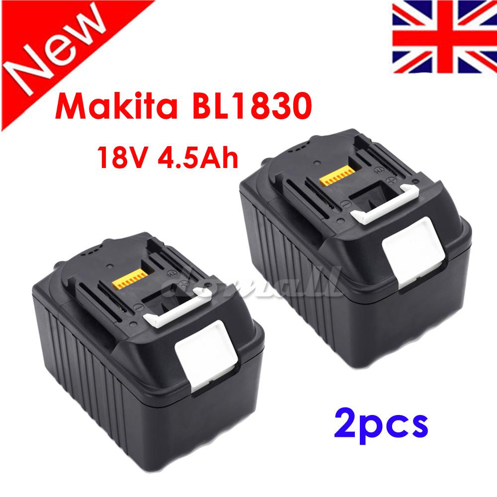 2x new 18v 4 5ah battery lithium ion lxt for makita bl1830 bl1845 latest pack uk ebay. Black Bedroom Furniture Sets. Home Design Ideas