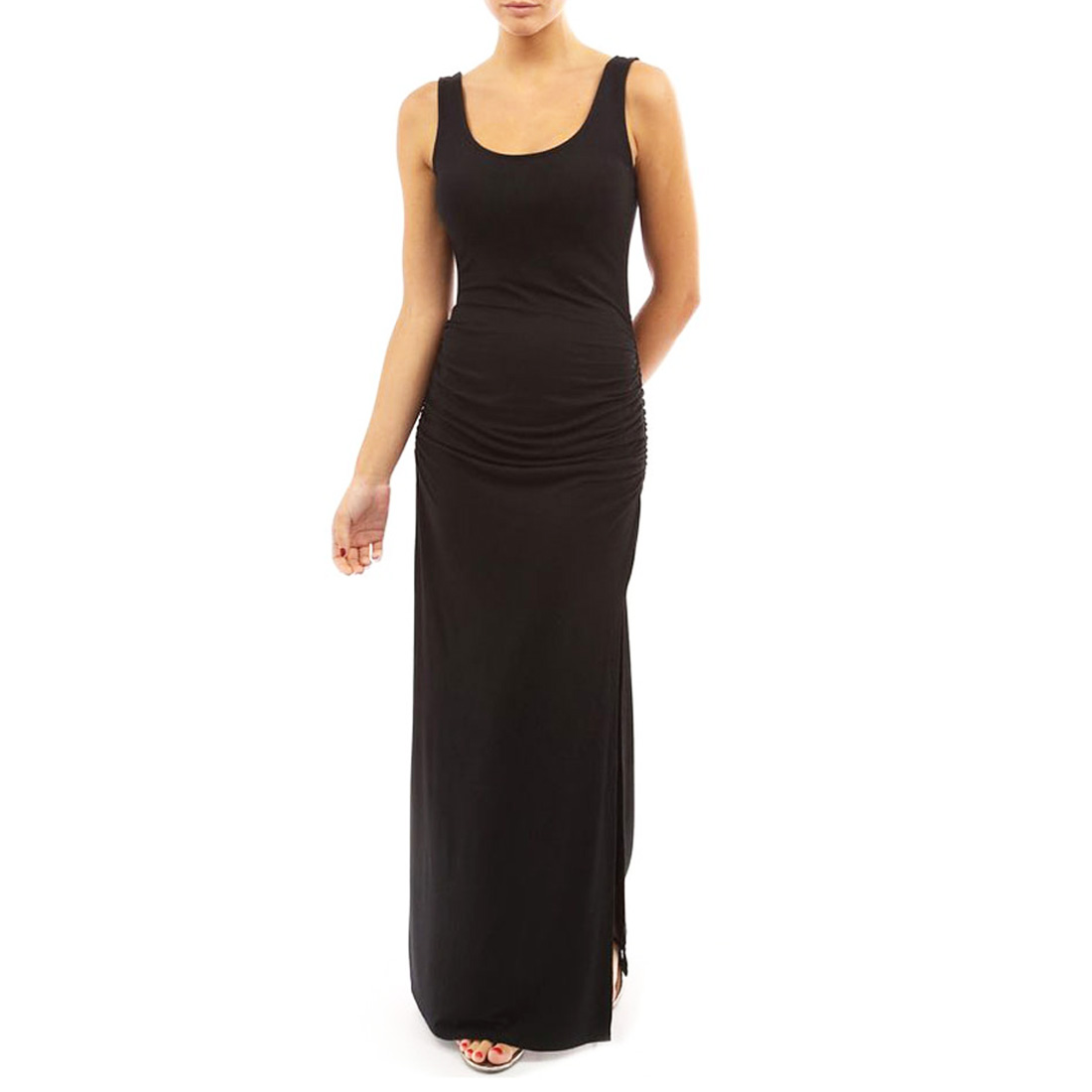 Womens Sleeveless Summer Maxi Dress Evening Cocktail Long ...