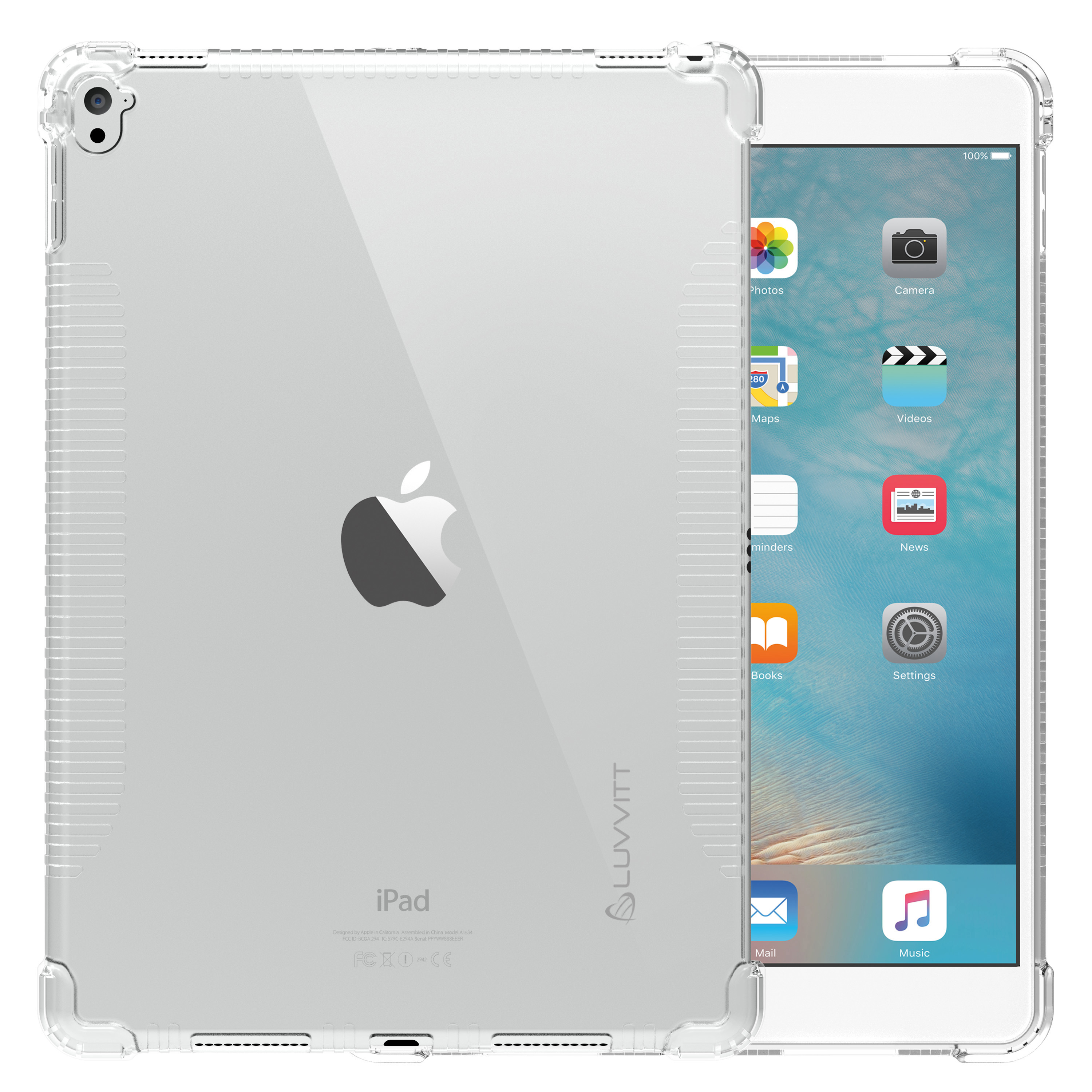 luvvitt clear grip case for apple ipad pro 9 7 in clear ebay. Black Bedroom Furniture Sets. Home Design Ideas