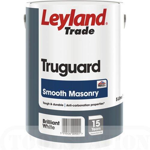 Leyland Trade Truguard Smooth Masonry Paint Magnolia 5L EBay