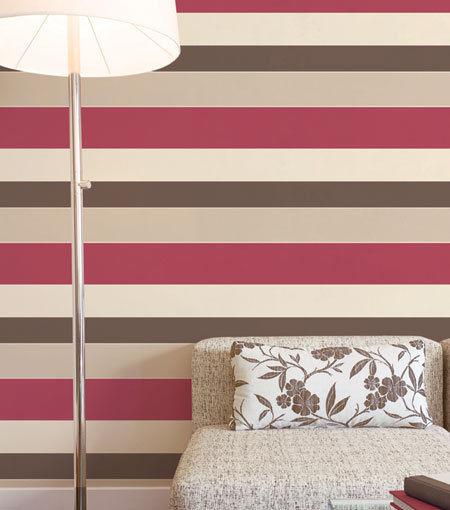 Wide stripe red cream mushroom brown wallpaper galerie - Red brown and cream wallpaper ...