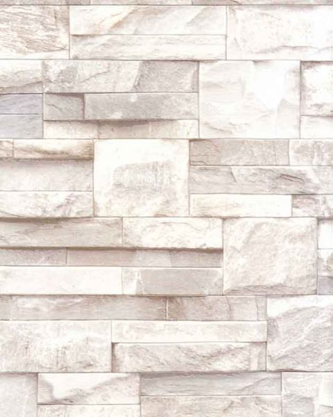 Slate stone brick wall 3d effect textured vinyl wallpaper for Vinyl wallpaper for walls