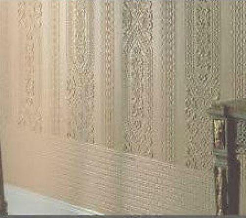 lincrusta bemalbar strukturiert wallcovering tapete dado. Black Bedroom Furniture Sets. Home Design Ideas