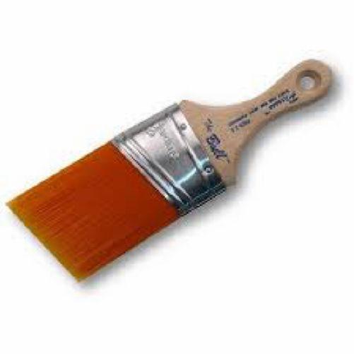 Angled Paint Brush Orange Handle