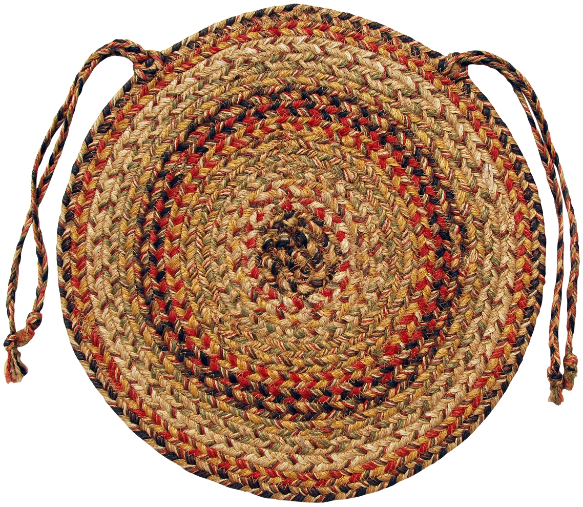 Braided Jute Chair Pads by Homespice Decor (Set of 4) 15