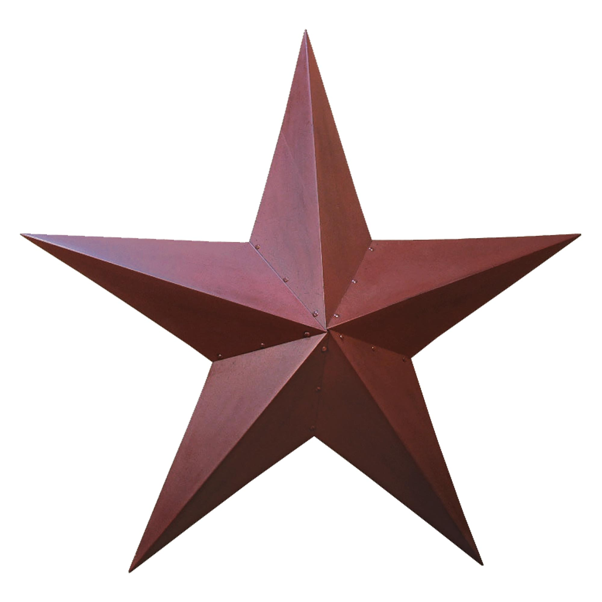 Metal barn star primitive tin black or red for Barn star decorations home