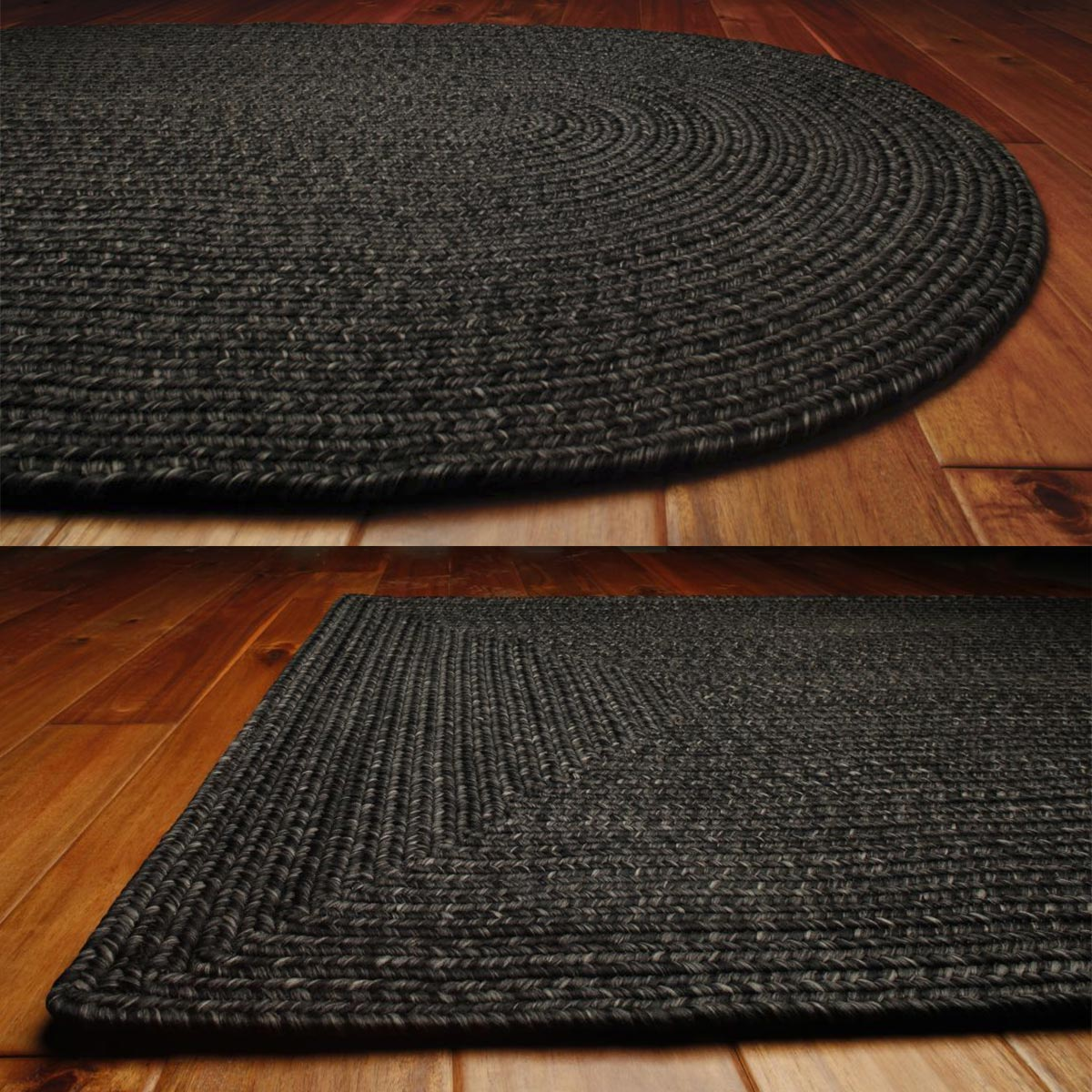 Solid Braided Area Rugs Indoor Outdoor Oval Rectangle - photo#34