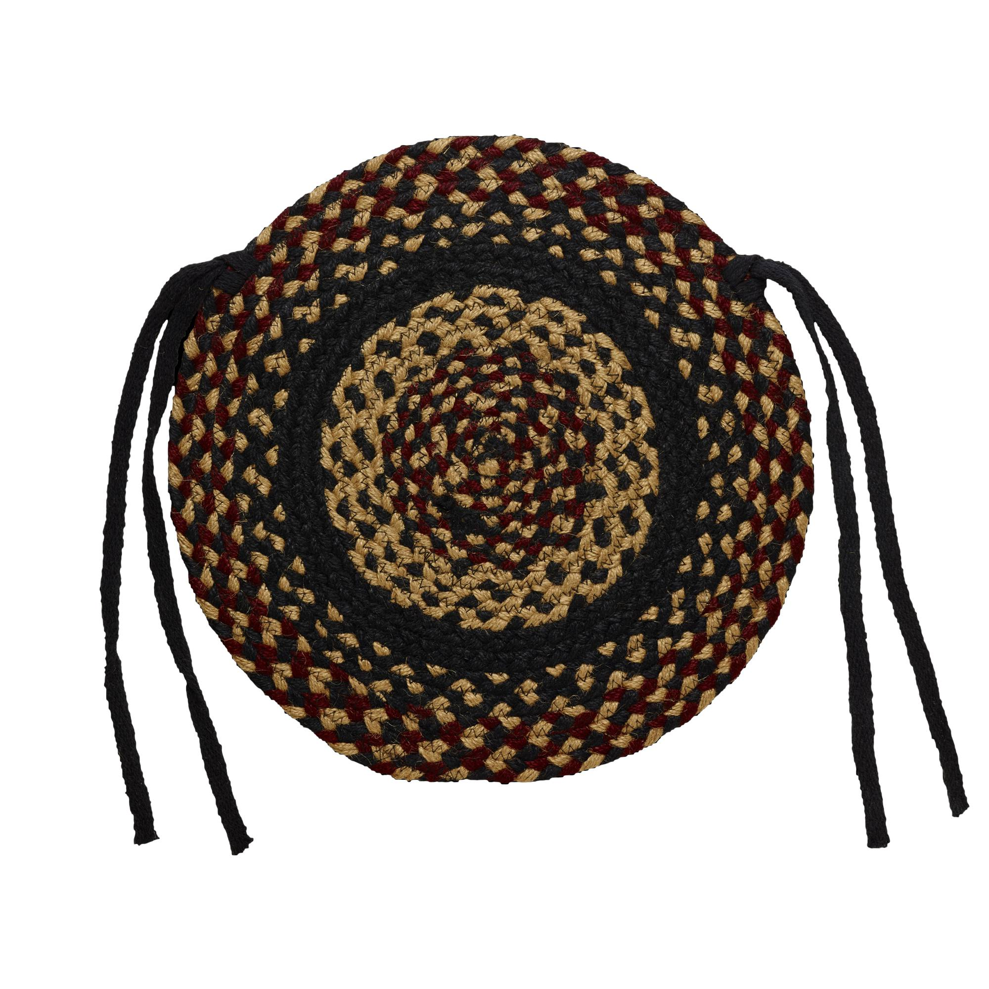 Braided Chair Pads Country Primitive by IHF Set of 4