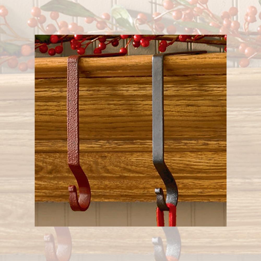 Metal stocking hanger holder black or red by park designs