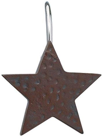 Star shower curtain hooks set of 12 choice of burgundy - Star shower ebay ...