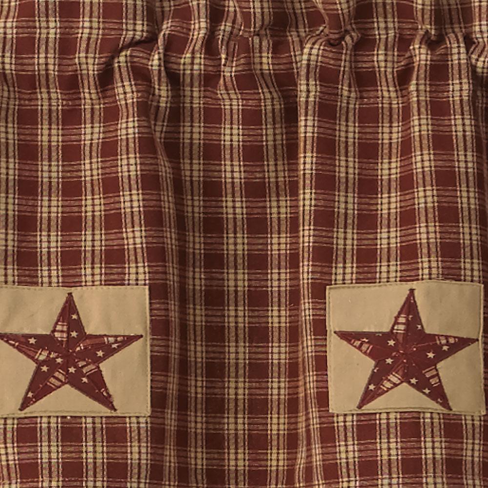 Elegant Sturbridge Star Patch Gathered Swags Prairie Curtains Park