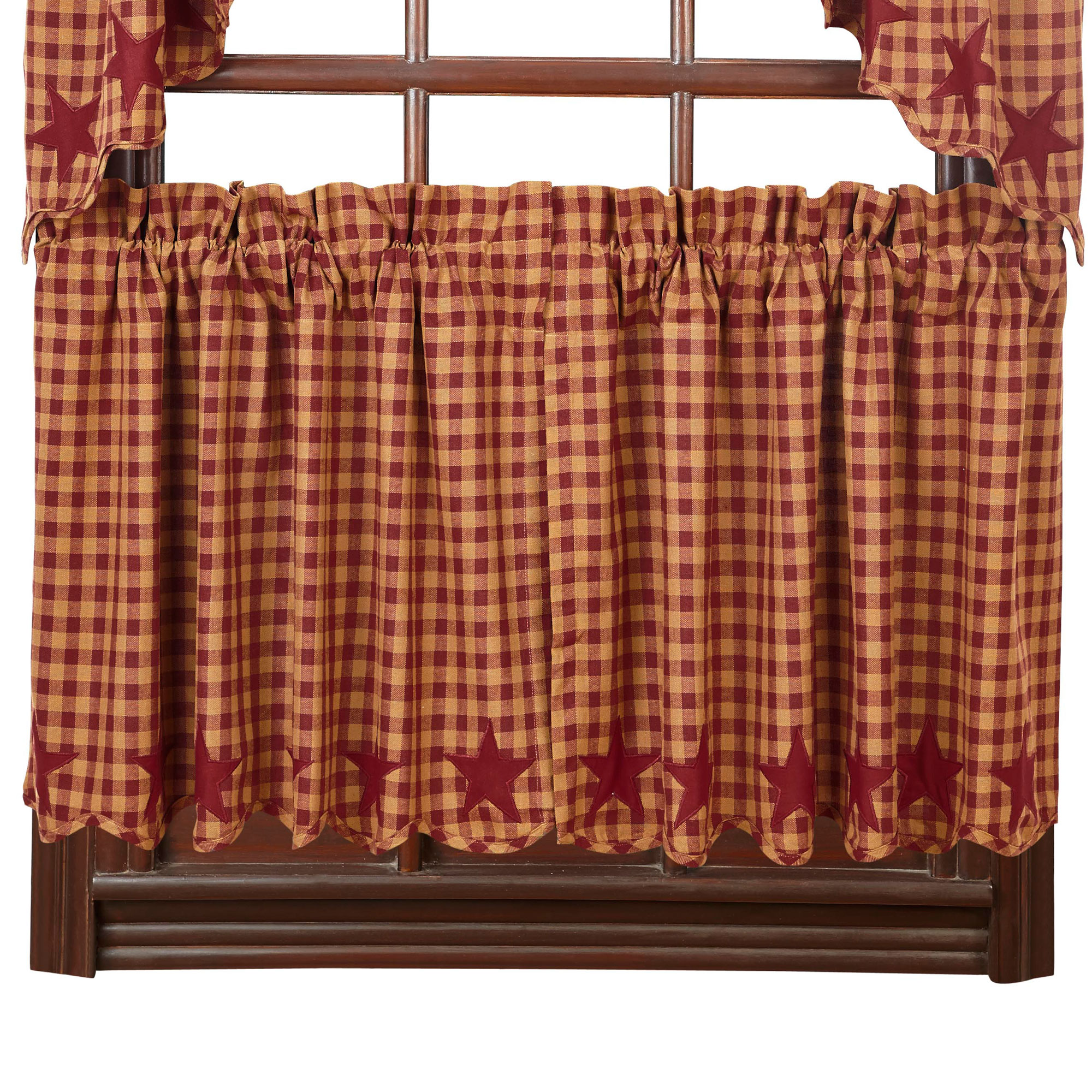 Burgundy Country Kitchen Curtains