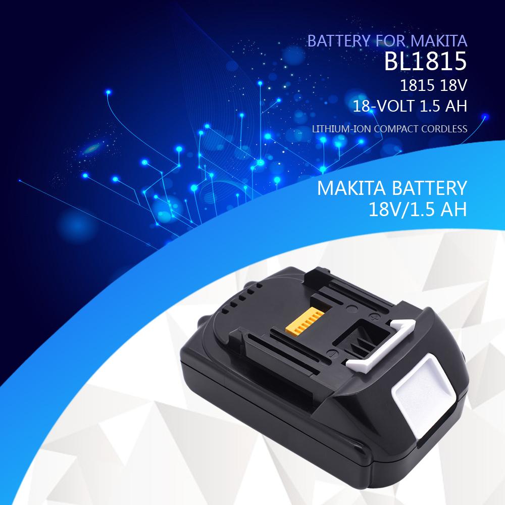 new 18 volt 1 5ah battery for makita bl1815 bl1830 18v lxt lithium ion compact. Black Bedroom Furniture Sets. Home Design Ideas