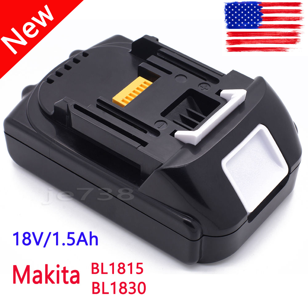 18v 1 5ah lxt lithium ion rechargeable battery for makita bl1815 bl1830 replace. Black Bedroom Furniture Sets. Home Design Ideas
